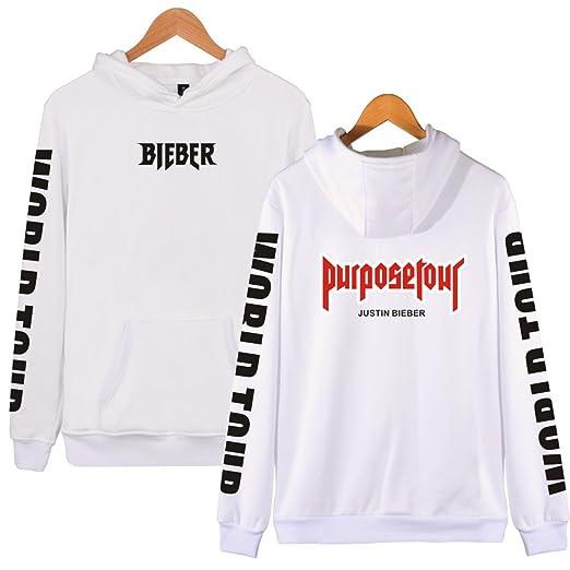 SERAPHY Unisex Sudadera con Capucha Justin Bieber con Capucha Purpose Tour Bieber Sudadera con Capucha World Tour para Mujer/Hombre: Amazon.es: Ropa y ...