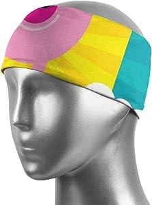 MSMM Sports Headbands Non Slip Fitness Headband Moisture Wicking Sweatband for Workout Yoga Running Bike Hair Head Band/Brace Athletic
