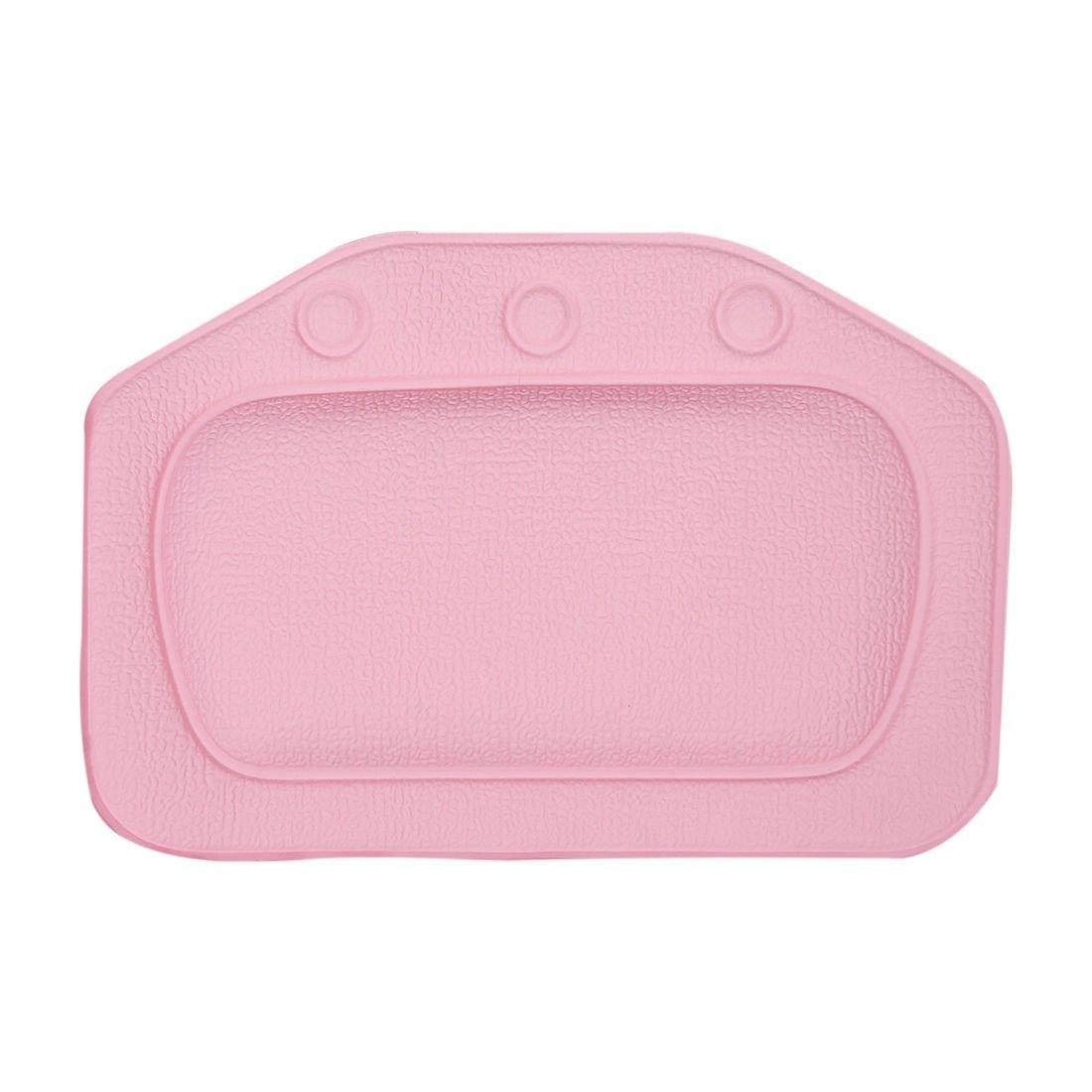 bathtub pillow - TOOGOO(R) Home & Garden Bathroom bathtub pillow bath bathtub headrest suction cup waterproof Bath Pillows Bathroom Products Pink 097174A3