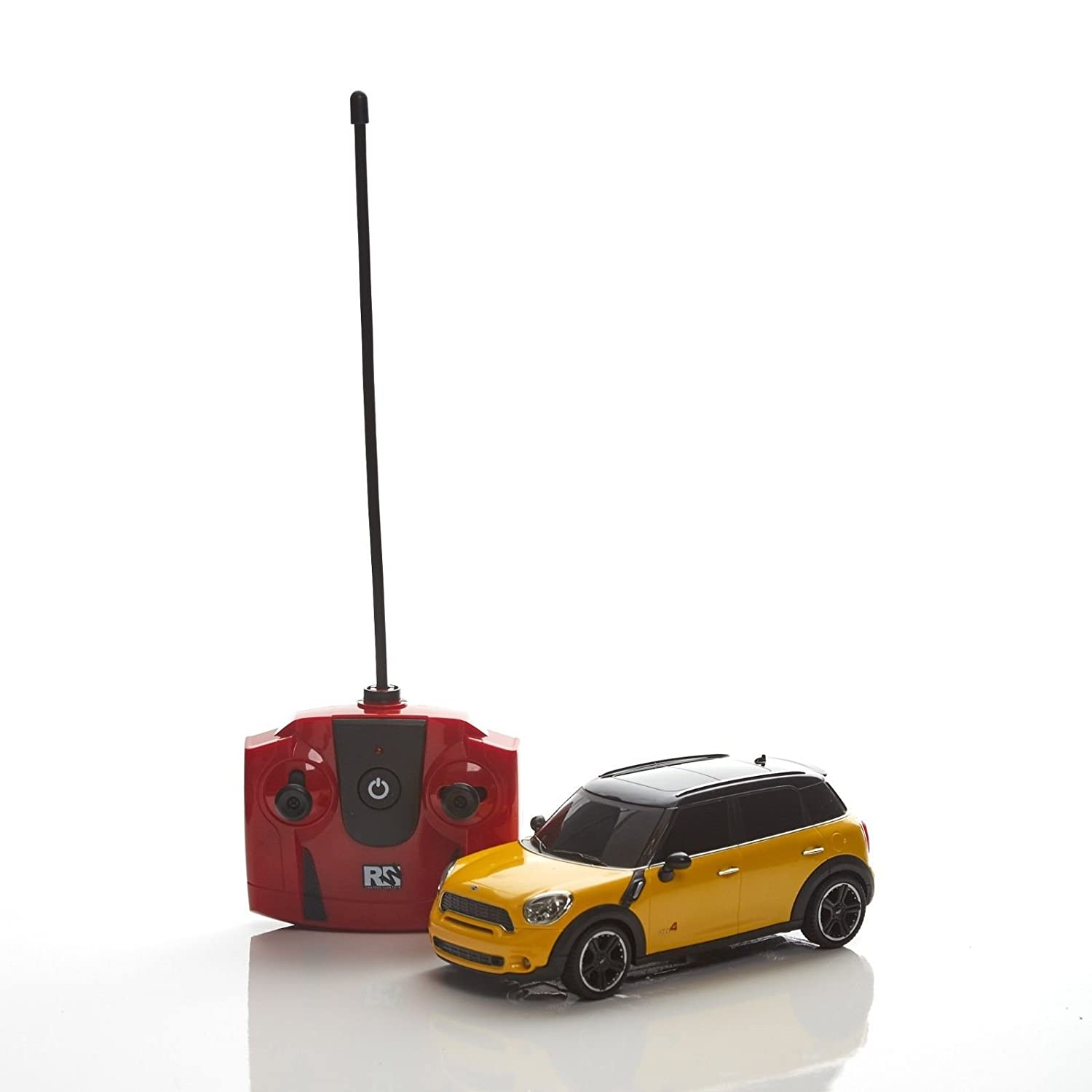 RC Radio Remote Controlled Car Scale 1:24 Official Mini John Cooper Works Yellow Jian Feng Yuan Toys