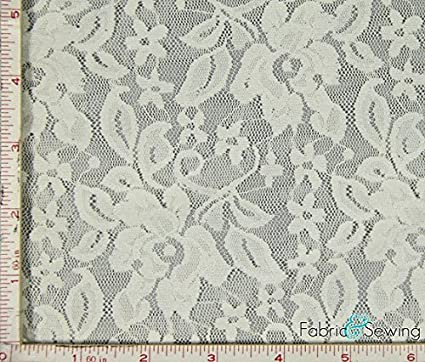 Cream Cotton Lace Fabric By The Metre