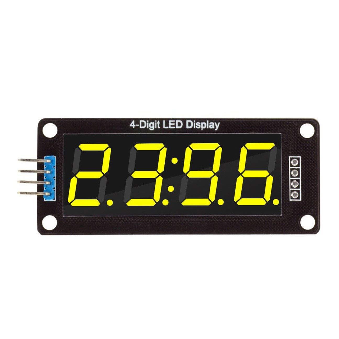 MachinYesell 0.56inch TM1637 4Bit Digital LED Affichage du Tube Horloge pour Arduino Vert