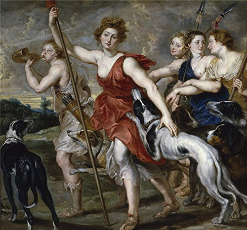 High Quality Polyster Canvas ,the Replica Art DecorativePrints On Canvas Of Oil Painting 'Rubens Peter Paul (Workshop) Diana Cazadora 1617 20 ', 18 X 19 Inch / 46 X 49 Cm Is Best For Gym Decoration And Home Artwork And Gifts