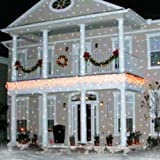 The Light Flurries Outdoor Light Show Amazon light flurries led weatherproof falling snowflakes light light flurries color accessory workwithnaturefo