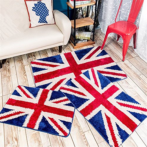 Sytian® Nice Union Jack Rug Super Soft Absorbent Doormat Floormat Shaggy Area Rug Non Slip Bath Mat Bathroom Shower Rugs Carpet (British Style) (50*80cm) by Stay Young