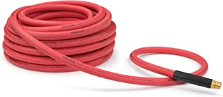 product image for TEKTON 46367 1/2-Inch I.D. by 50-Foot 250 PSI Rubber Air Hose with 1/2-Inch MPT Ends and Bend Restrictors