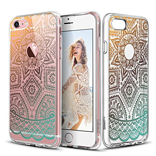 iPhone 6s Case, ESR iPhone 6/6s Case Hybrid [Shock Absorbing] TPU Bumper +[Scratch Resistant] Hard Back Cover Clear with Design Protective Cover for iPhone 6s / 6 - Gold Henna