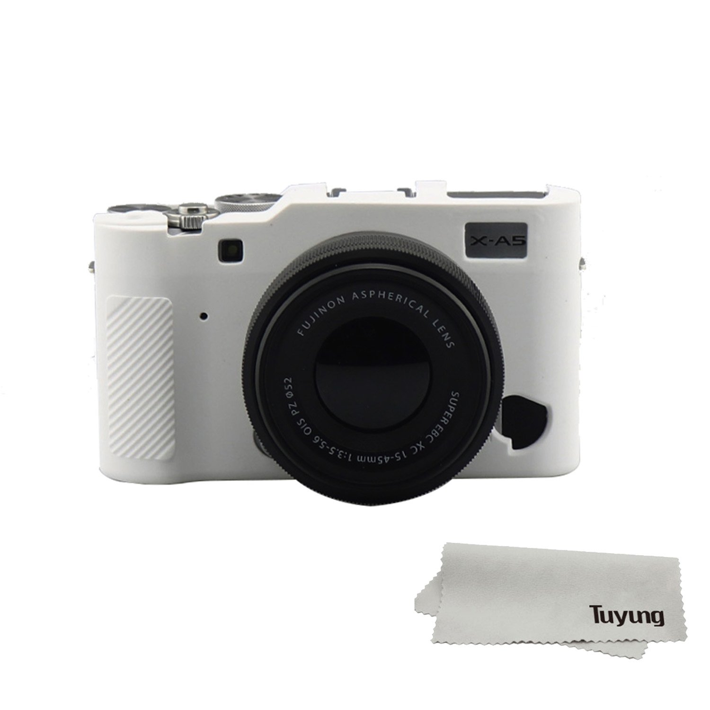tuyungシリコンカメラケースバッグ保護カバースキンfor Fuji Fujifilm x-a5 xa5デジタルカメラ – ホワイト   B07BQJWFQ6