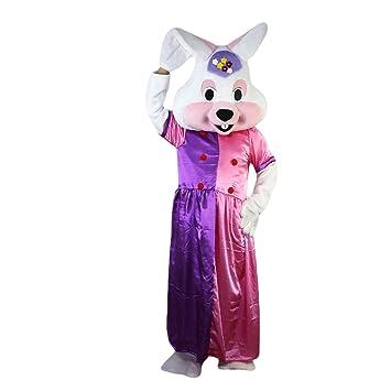 Langteng Disfraz de conejo blanco con dibujos animados, imagen ...