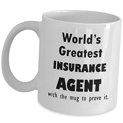Amazon Com Funny Insurance Sales Agent Gifts Coffee Mug Worlds