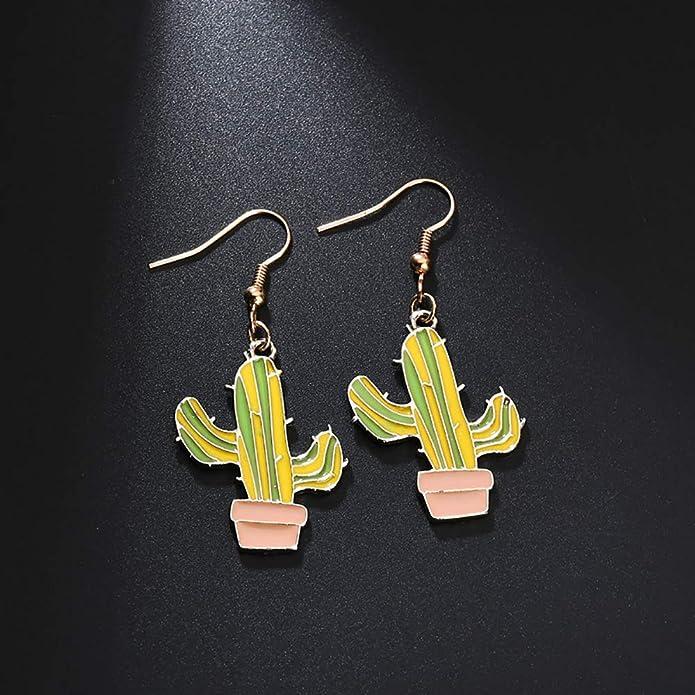 Amazon.com: muzhe dorado Cactus Horquilla Clips de pelo ...