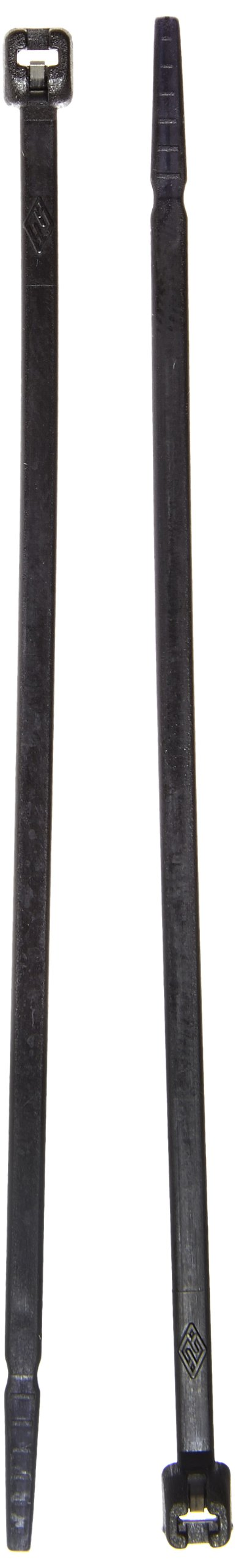 Cable Tie with Stainless Steel Barb, 18 Tensile Strength, 4'' Length, Black