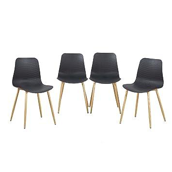 EGGREE 4er Set Esszimmerstühle Skandinavisch Mit Ergonomic Stuhlsitz Und  Starke Metallbeine, Modern Design Stuhl Für