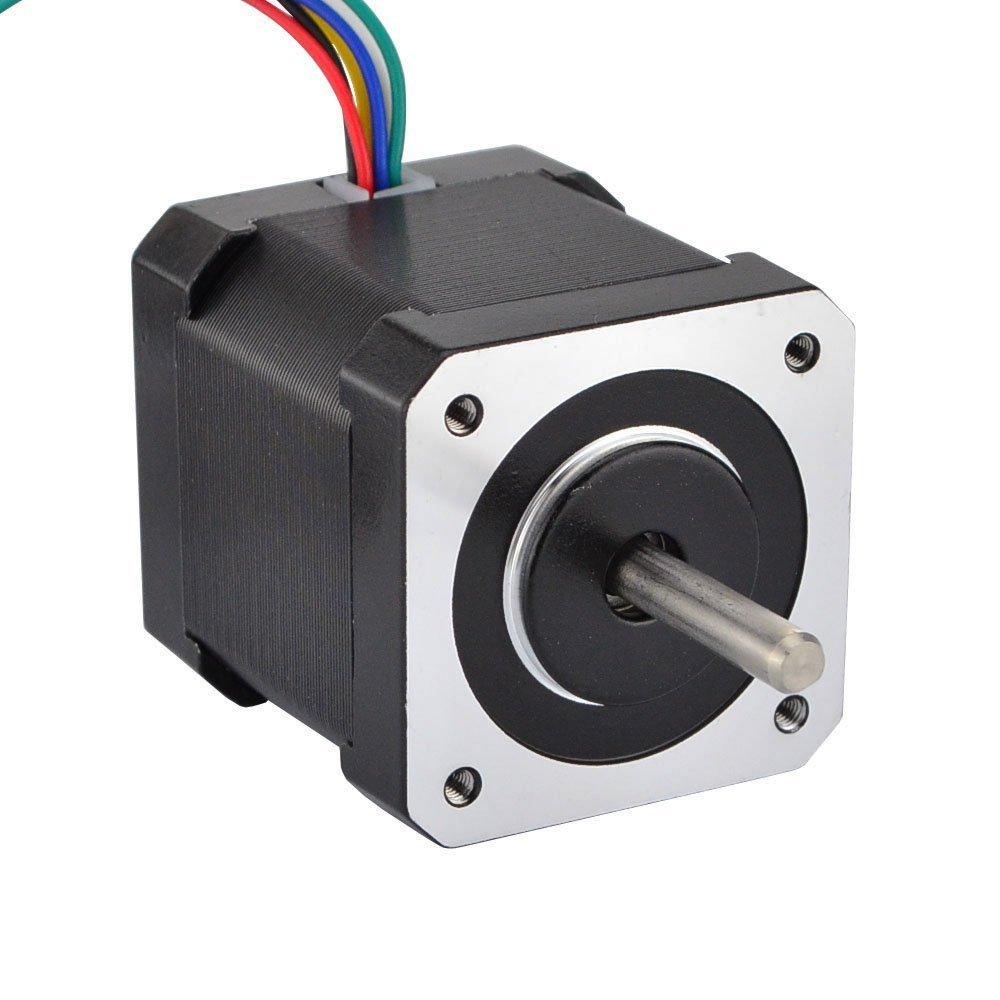 JoyNano Nema 17 Stepper Motor Bipolar 1.7A 59N.cm Holding Torque 2-Phase 4-Wire 1.8 Deg 48mm Body for 3D Printer or CNC Machine