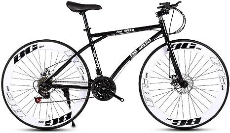 LRHD Bicicletas carretera, de 24 velocidades de 26 pulgadas, bicicletas de doble disco de freno, marco