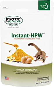 Instant-HPW - All Natural Vitamin Enriched Sugar Glider Food - Healthy & Nutritious - High Protein Wombaroo - Staple Diet