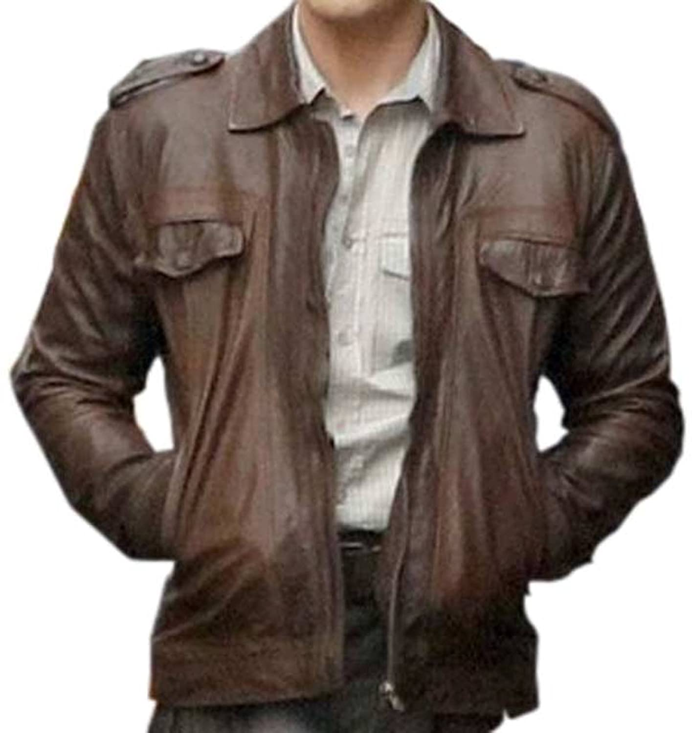 The Avengers: Steve Rogers Brown Genuine Leather Jacket