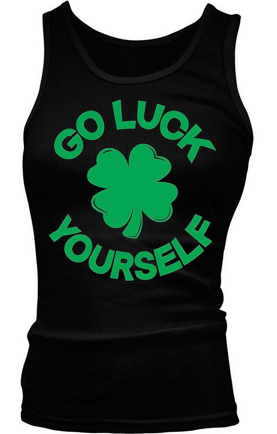 Tcombo Good Luck Yourself - Green Shamrock - ST Patricks Day Girls/Juniors Tank Top T-Shirt