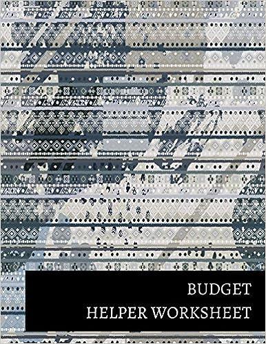 budget helper worksheet journals for all 9781520843643 amazon com