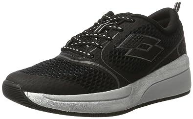 Lotto Sport S4522, Chaussures de Running Compétition Femme, Noir (Blk/Tit Gry), 37 EU