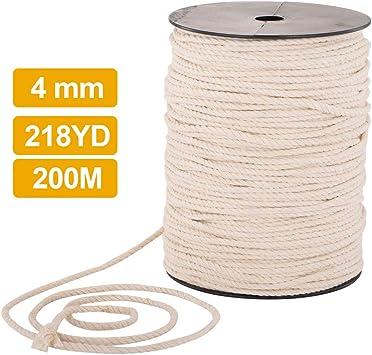 Cuerda de algodón, cuerda de macramé hecha a mano de algodón ...