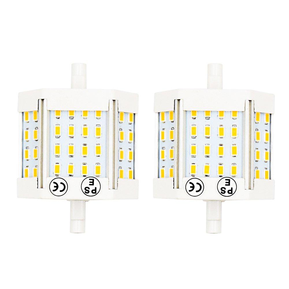 Bonlux 10W J78 R7s LED Light Bulb Double Ended J Type 78mm (3'') Daylgiht 6000K LED R7s Flood Light 100W Halogen Bulb Equivalent (Pack of 2)