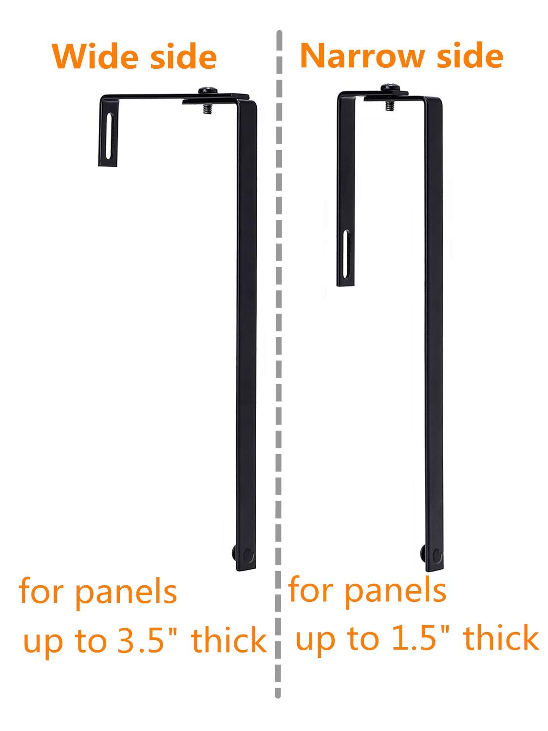 1 Pair Black Fits 1.5-3.5 Cube Wall Mount Delifox Adjustable Cubical Hangers Hooks for Panels