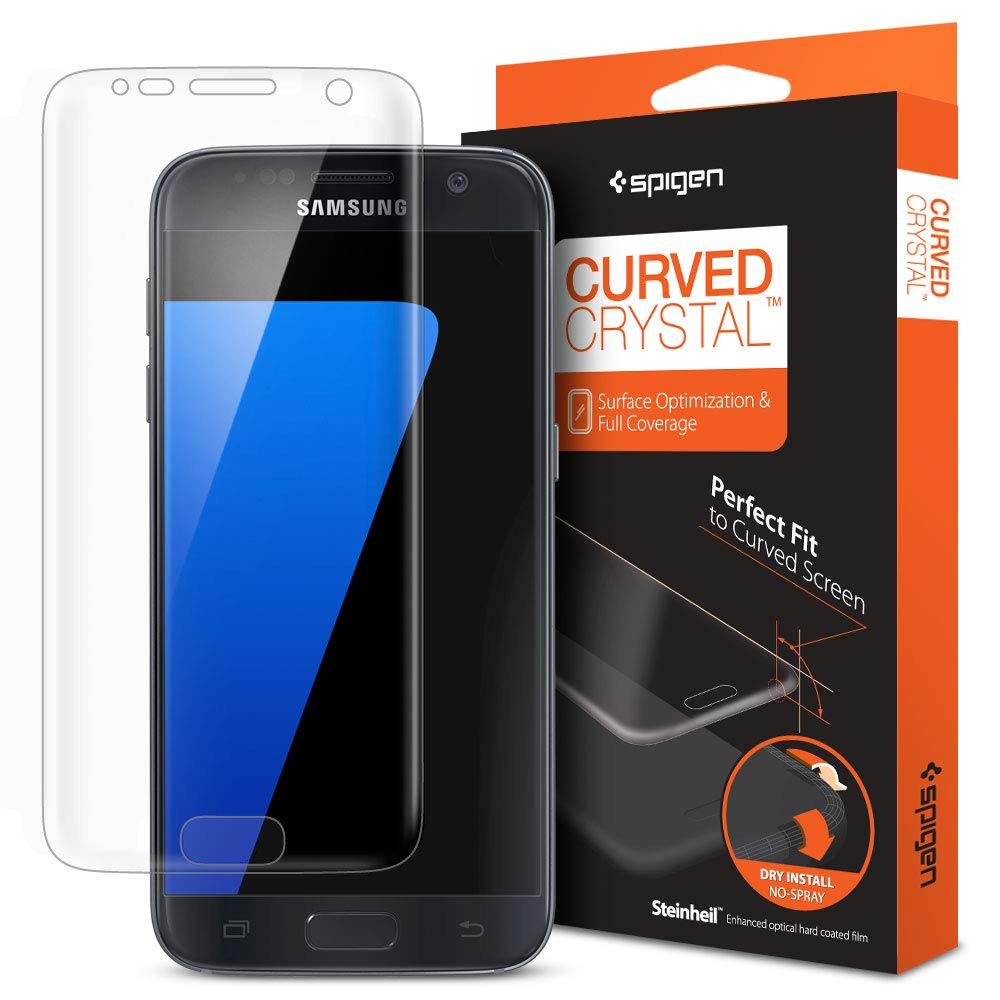 Galaxy S7 Screen Protector, Spigen® Premium [Curved Crystal Film -3 Pack] Ultra Clear [Full Coverage] Screen Protector for Samsung Galaxy S7 555FL20105