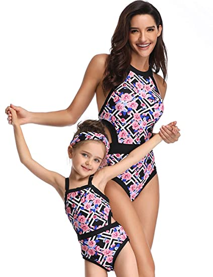 bf4c938520 XUNYU One Pieces Swimsuits for Women and Girls Bathing Suit Swimwear Family  Matching Beachwear: Amazon.ca: Clothing & Accessories