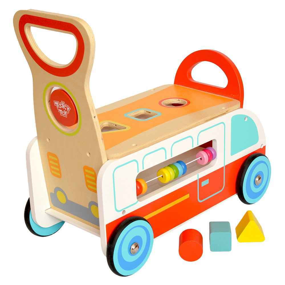 Tooky Toys- Tooky Toy Wooden Multi-Function Walker Juguete, Color ...