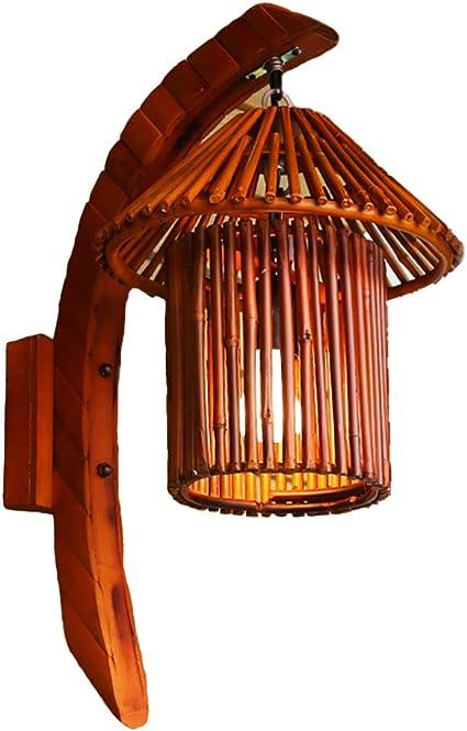 CSDM.AI De Arte De Bambú Natural Decorativa Lámpara De Pared Bambú ...