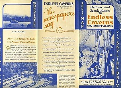 Amazon Com Endless Caverns Brochure Scenic Route Map Shenandoah