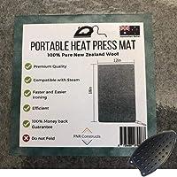 "Wool Ironing Mat 18"" x 12""x 0.59"" - 100% Pure New Zealand Wool Ironing Pressing Mats - Quilting Ironing Pad - Easy Press…"