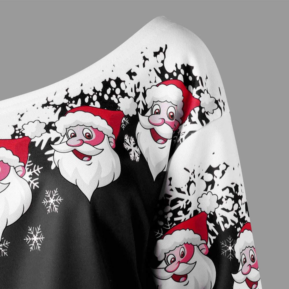 beikoard frauen weihnachten weihnachtsmann diagonal kragen. Black Bedroom Furniture Sets. Home Design Ideas