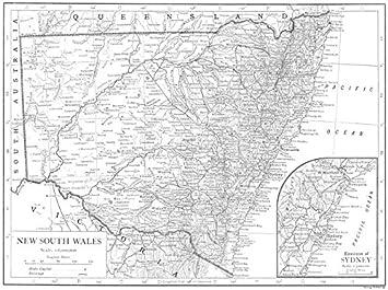Karte Australien Und Umgebung.Amazon De Australien New South Wales Rundum Karte Von Umgebung