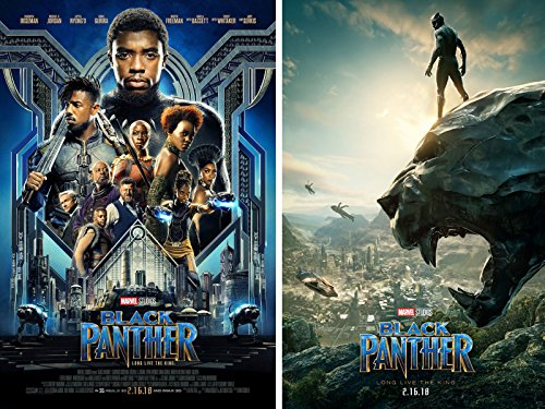 Black Panther 2018 movie Set of 2 Posters 24x36