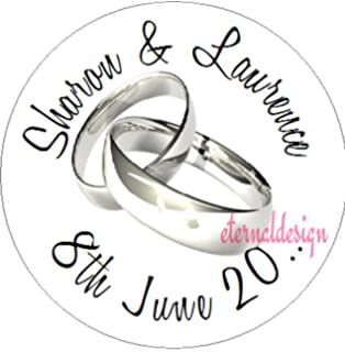Laserables Personalised Transparent Wedding Invitation Seals Stickers 65 on an A4 Sheet