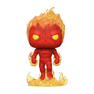 Funko Pop! Marvel: Fantastic Four - Human Torch, Multicolor, Model:44987: Toys & Games