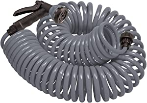 Orbit 26382 Coil Garden Hose, 25 ft, Gray