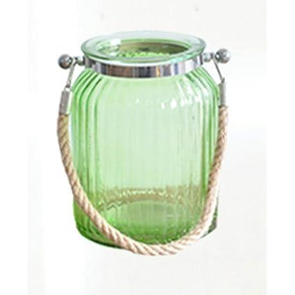 Jarrón Color botellas de cristal transparente Flores eingefügt la Página de inicio artesanía