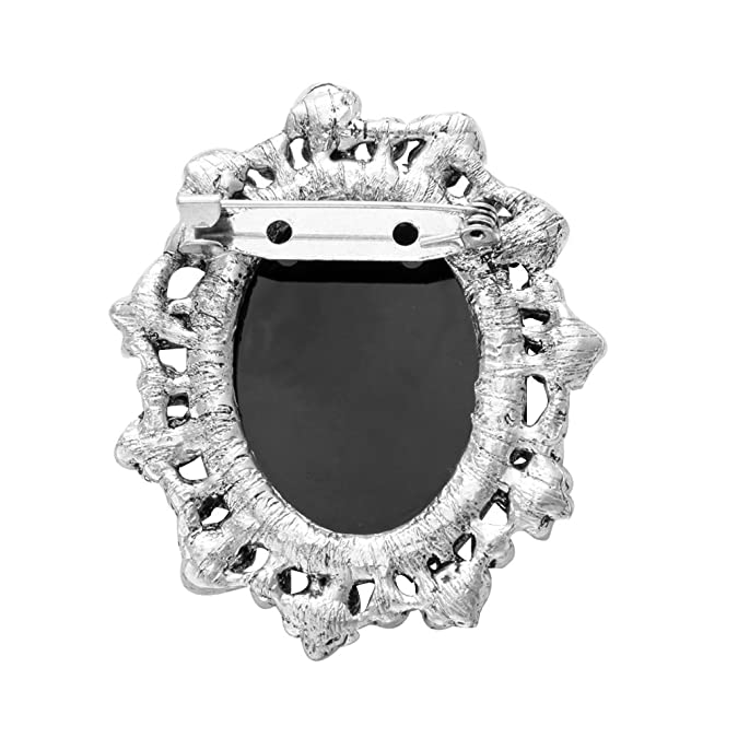 Amazon.com  SenFai Vintage Brooches Silver Gold Cameo Brooch Luxurious  Palace Queen Brooch (1)  Jewelry 0d8fb82fb354