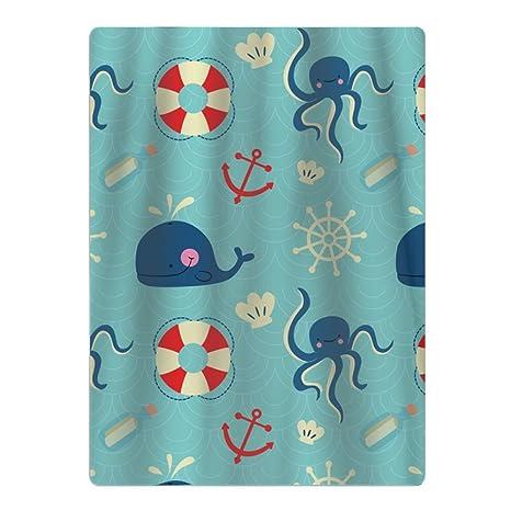 Toalla de playa de microfibra con elementos náuticos de dibujos animados, apta para piscina,