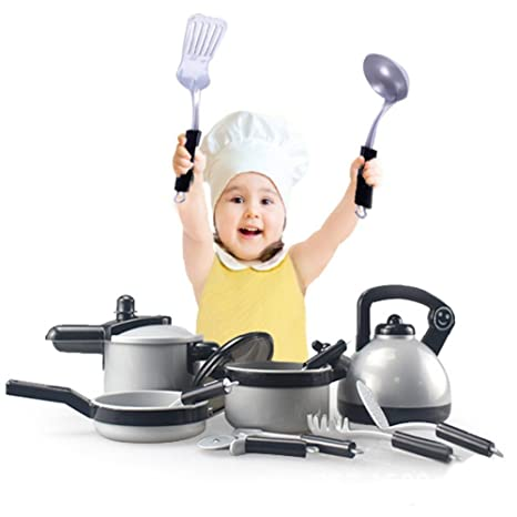 Amazon Com Wenasi Children Kitchen Miniature Cooking Set Simulation