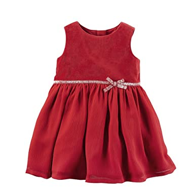 8e575457912b8 Carter's Red Baby Girls Dresses - Christmas Holiday Party For Toddler  Little Girl - Red -
