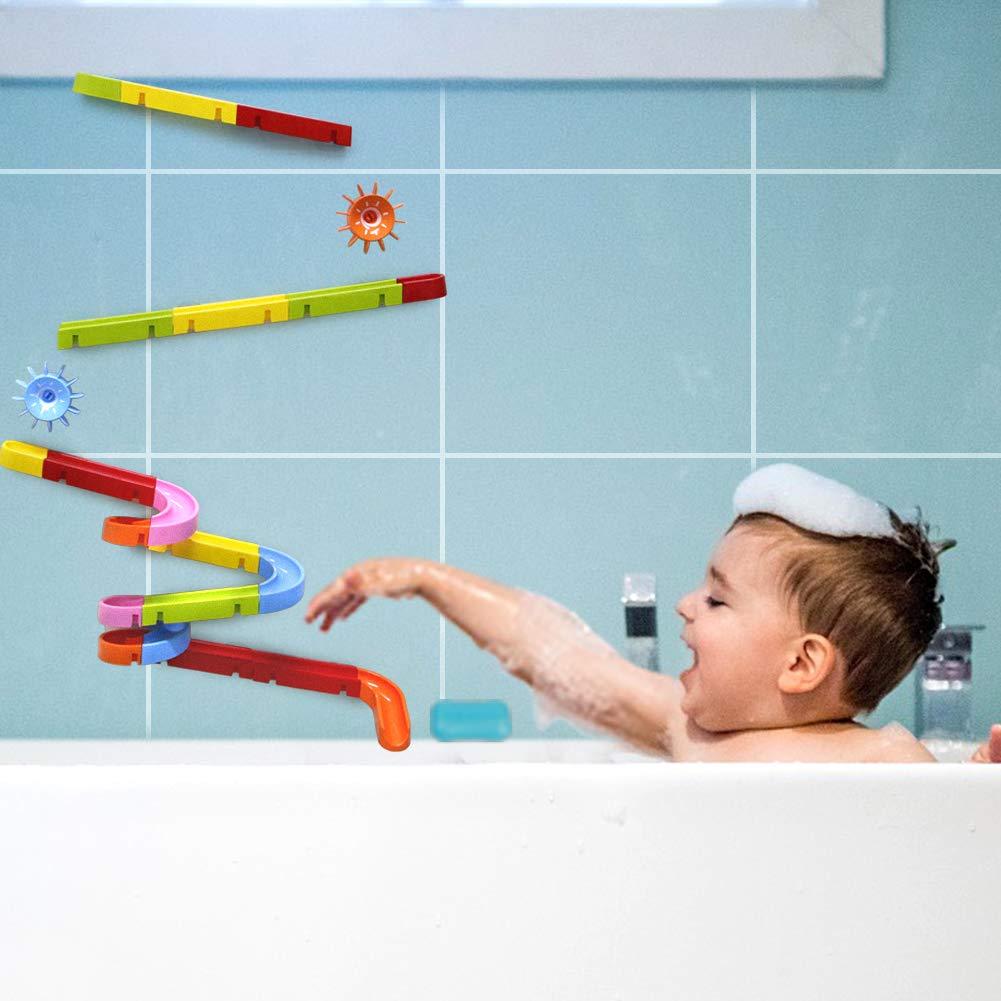 Symiu Giochi Bagnetto Bagno Bambini Pista Biglie Rampa per Blocchi Costruzioni Giochi Doccia per Bambini 3 4 5