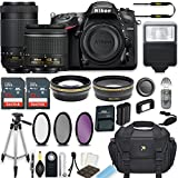 Nikon D7200 24.2 MP DSLR Camera (Black) w/AF-P DX NIKKOR 18-55mm f/3.5-5.6G VR Lens & AF-P DX NIKKOR 70-300mm f/4.5-6.3G ED Lens Bundle includes 64GB Memory + Filters + Deluxe Bag + Accessories