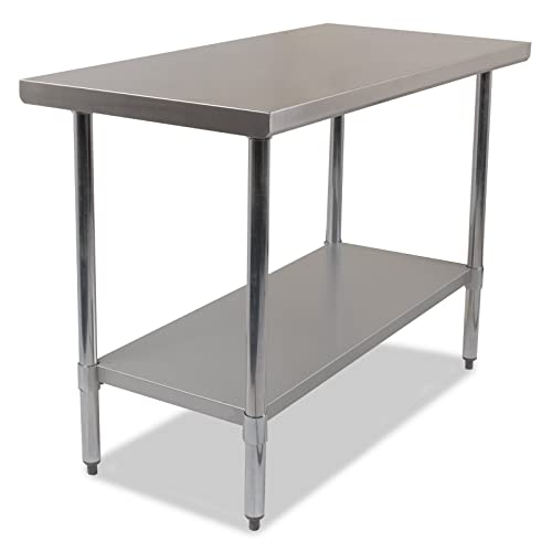 24 X 48 Inch Stainless Steel Metal Commercial Industrial Kitchen Food Prep  Bench Work Table