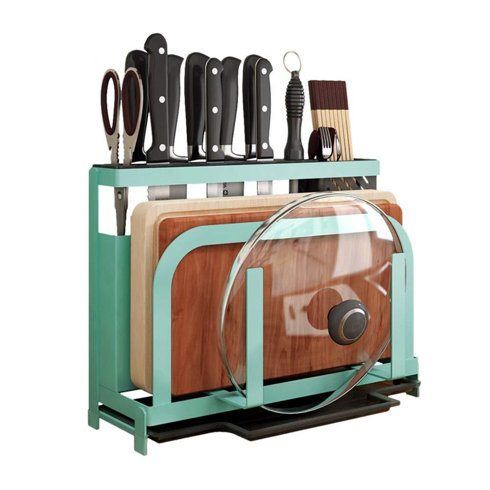 LJJL チョッパーナイフまな板棚、多機能家庭用キッチン用品箸箸キッチンふた収納ラック B07RMTPC1X