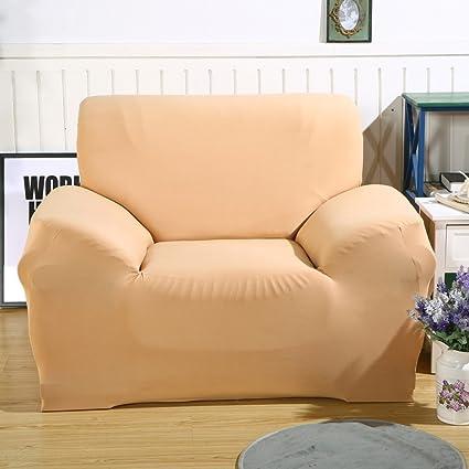 Funda elástica de tela para sofás, de ParaCity, Light Tan, 1 seater:90-140cm