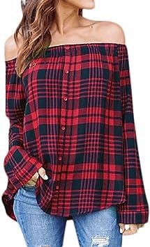 Camisetas Mujer Mujer Sexy Camisa de Manga Larga Camisas Mujer Fiesta Elegantes Tops Blusa del Hombro de Verano Playa Blusas de Mujer Elegantes de Fiesta 2018: Amazon.es: Deportes y aire libre